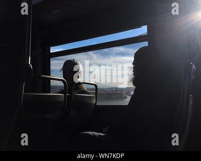 Sky Viewed From Bus Window - Stock Photo