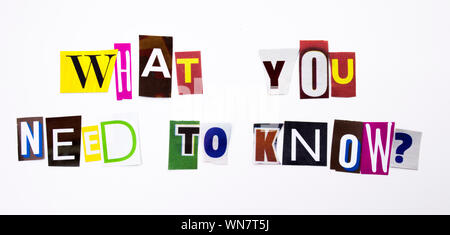 Close-up Of Colorful Text On White Background - Stock Photo