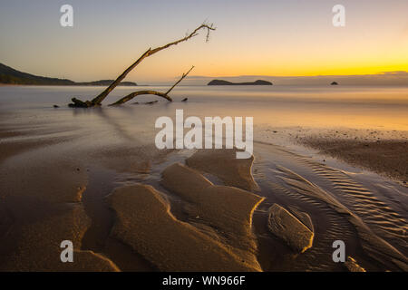 Scenic View Of Sea At Sunset - Stock Photo