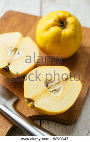 High Angle View Of Fruits On Cutting Board - Stock Photo
