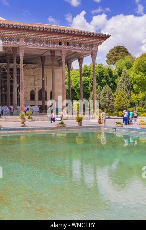 Chehel Sotoun, garden palace, 1647, Isfahan, Isfahan Province, Iran - Stock Photo