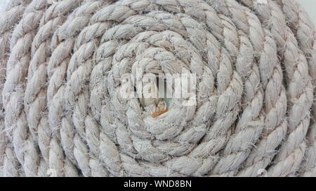 Full Frame Shot Of Spiral Rope - Stock Photo