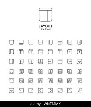 Modern thin line flat design icons set for website and app design 048 - Stock Photo