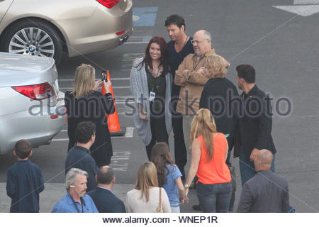 West Hollywood, CA - 'American Idol' Judges Keith Urban and Harry Connick Jr. arrive to film another segment for the popular American TV Show. AKM-GSI April 16, 2014 - Stock Photo