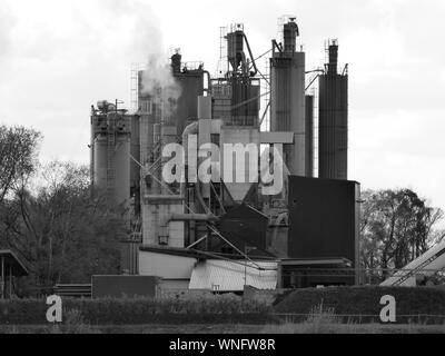 Factory Emitting Smoke - Stock Photo