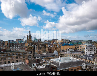 View of city skyline from The Lighthouse tower, Mitchell Street, Glasgow, Scotland, UK