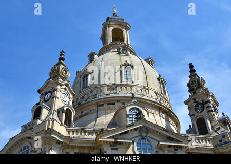 Church of Our Lady, Dresdner Frauenkirche, Dresden, Germany, Europe - Stock Photo