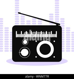 banner with old radio music vector illustration design - Stock Photo