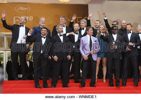 Cannes, France - The cast of 'Expendables 3' at 'The Homesman' premiere, during the 67th Annual Cannes Film Festival. AKM-GSI May 18, 2014 - Stock Photo
