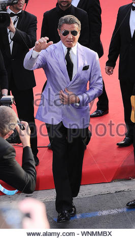 Cannes, France - Sylvester Stallone at the 'The Homesman' premiere during the 67th Annual Cannes Film Festival. AKM-GSI May 18, 2014 - Stock Photo