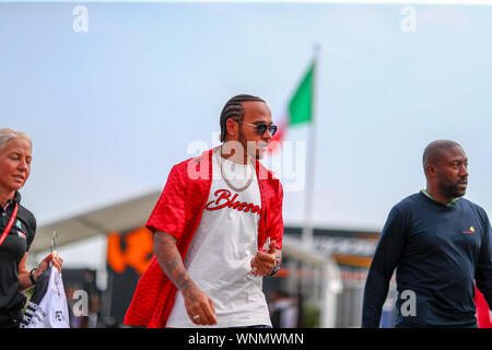 #44 LEWIS HAMILTON MERCEDES AMG TEAM F1. ITALIAN GP, MONZA 5-8 SEPTEMBER 2019  during Gran Premio Heineken Of Italy 2019 - Giovedì - Paddock And Confe Stock Photo