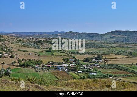 Rural landscape near Apollonia, Albania - Stock Photo