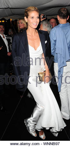 Cannes, France - Heidi Klum at Roberto Cavalli's annual yacht party at Cannes Harbor during the 67th Annual Cannes Film Festival in Cannes, France. AKM-GSI May 21, 2014 - Stock Photo