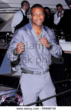 Cannes, France - Chris Tucker at Roberto Cavalli's annual yacht party at Cannes Harbor during the 67th Annual Cannes Film Festival in Cannes, France. AKM-GSI May 21, 2014 - Stock Photo