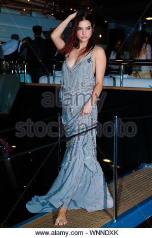 Cannes, France - Barbara Palvin at the 'Roberto Cavalli Annual Party Aboard' as part of the 67th Cannes Film Festival in Cannes, France AKM-GSI May 21, 2014 - Stock Photo