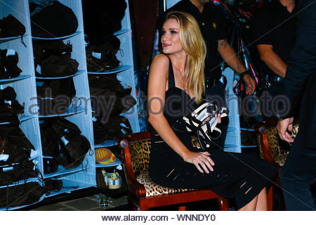Cannes, France - Rosie Huntington-Whiteley at the 'Roberto Cavalli Annual Party Aboard' as part of the 67th Cannes Film Festival in Cannes, France AKM-GSI May 21, 2014 - Stock Photo