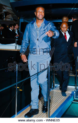 Cannes, France - Chris Tucker at the 'Roberto Cavalli Annual Party Aboard' as part of the 67th Cannes Film Festival in Cannes, France AKM-GSI May 21, 2014 - Stock Photo