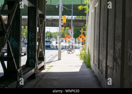 Toronto has a super cool vibe with lots of unique urban elements. It is a photographer's paradise. - Stock Photo