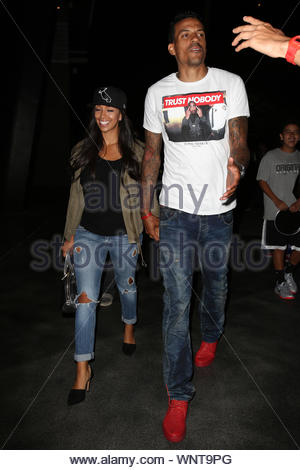 Los Angeles, CA - Matt Barnes attends the Kings Game for the NHL Stanley Cup Finals, held at the Staples Center in Los Angeles. AKM-GSI June 13, 2014 - Stock Photo