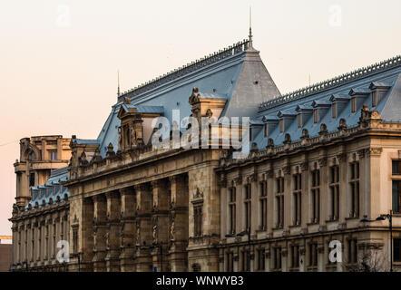 Palace of Justice building (Palatul Justitiei) from Bucharest, Romania - Stock Photo