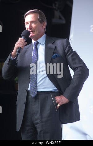 6 September 2019 - London, Parliament Square - Dominic Grieve MP (Conservative - Beaconsfield) speaking at a rally organised by the Peoples Vote campa - Stock Photo