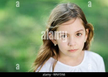 Portrait of young beautiful girl - Stock Photo