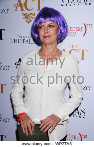 Las Vegas, NV - Actress Susan Sarandon walks the red carpet at The Palazzo for the grand opening of their new nightclub The Act. AKM-GSI October 27, 2012 - Stock Photo