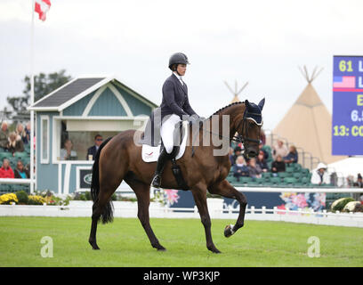 Stamford, Lincolnshire, UK. 06th Sep, 2019. Lillian Heard on LCC Barnaby at The Land Rover Burghley Horse Trials, Stamford, Lincolnshire, on September 6, 2019. Credit: Paul Marriott/Alamy Live News - Stock Photo