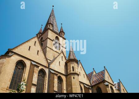 Lutheran cathedral of saint mary in Sibiu, Romania - Stock Photo