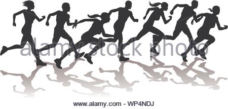 Runners racing - Stock Photo
