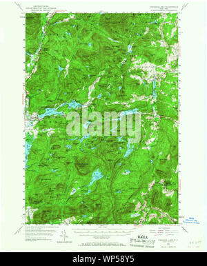 New York NY Paradox Lake 136390 1953 62500 Restoration - Stock Photo
