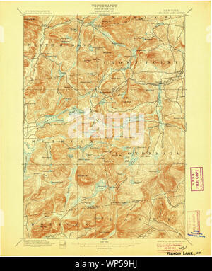 New York NY Paradox Lake 148186 1897 62500 Restoration - Stock Photo