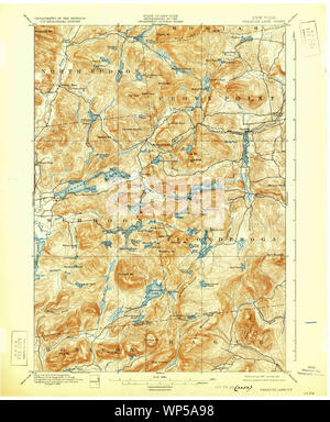 New York NY Paradox Lake 148190 1897 62500 Restoration - Stock Photo