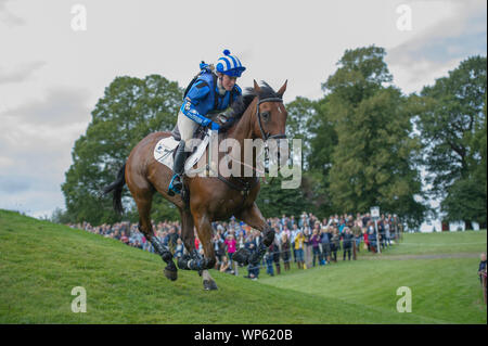 Stamford, UK, Saturday 7th September, 2019.Imogen Murray (BGR) riding Ivar Gooden during the Land Rover Burghley Horse Trials,  Cross Country phase. © Julie Priestley/Alamy Live News - Stock Photo