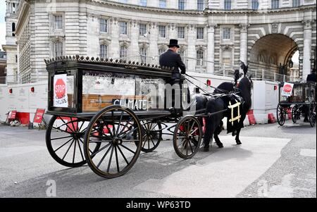 London. UK 7th September 2019. National Funeral For The Unknown Cyclist hosted by Extinction Rebellion. National Cycling Protest & Die-In. Trafalgar Square, London. UK Credit: michael melia/Alamy Live News - Stock Photo