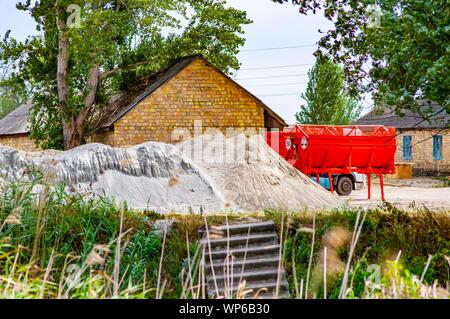 Orange road repair equipment. Transport. Industry. - Stock Photo