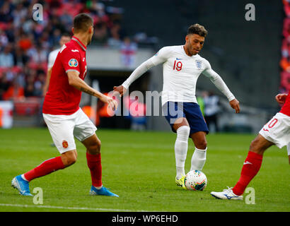 London, UK. 07th Sep, 2019. LONDON, ENGLAND. SEPTEMBER 07: Alex Oxlade-Chamberlain during UEFA Euro 2020 Qualifier between England and Bulgaria at Wembley stadium in London, England on September 07, 2019 Credit: Action Foto Sport/Alamy Live News