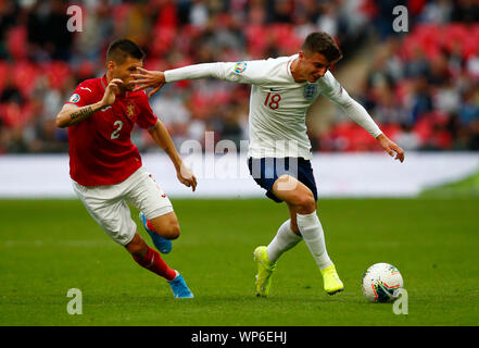 London, UK. 07th Sep, 2019. LONDON, ENGLAND. SEPTEMBER 07: Mason Mount of England during UEFA Euro 2020 Qualifier between England and Bulgaria at Wembley stadium in London, England on September 07, 2019 Credit: Action Foto Sport/Alamy Live News