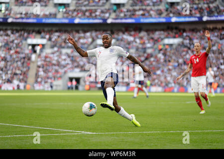 London, UK. 7th September 2019; 7th September 2019; Wembley Stadium, London, England; European Championships 2020 Qualifier, England versus Bulgaria; Raheem Sterling of England - Editorial Use Only. Credit: Action Plus Sports Images/Alamy Live News - Stock Photo