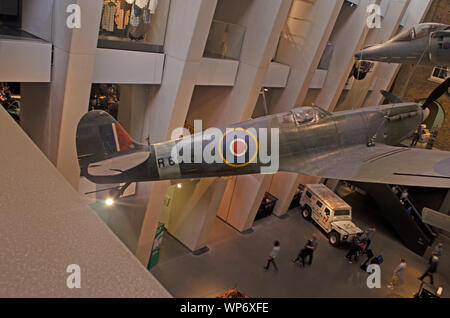 Supermarine Spitfire is a British single-seat fighter aircraft used by the Royal Air Force and other Allied countries before, during, and after WWII - Stock Photo