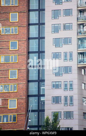 Apartment building with Generic architecture. - Stock Photo