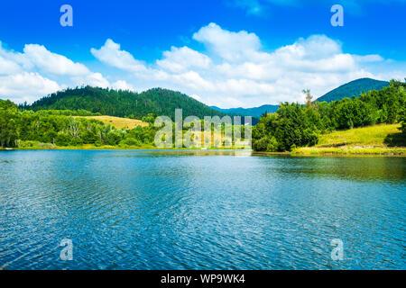 Beautiful mountain landscape, Mrzla vodica lake in Gorski kotar, Croatia