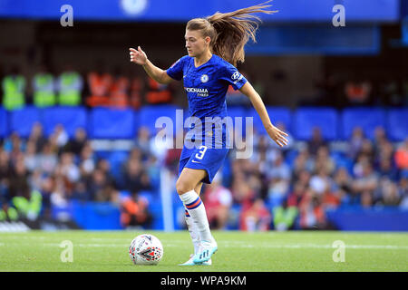 London, UK. 08th Sep, 2019. Hannah Blundell of Chelsea Women in action. FA Women's super league match, Chelsea women v Tottenham Hotspur women at Stamford Bridge in London on Sunday 8th September 2019. this image may only be used for Editorial purposes. Editorial use only, license required for commercial use. No use in betting, games or a single club/league/player publications. pic by Steffan Bowen/ Credit: Andrew Orchard sports photography/Alamy Live News - Stock Photo