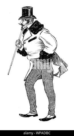 German satirical magazine of  humor and caricatures:  Man of weathy elegance - Stock Photo