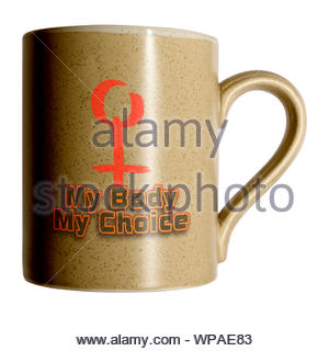 on Personal cup, Blandford, Dorset, England, UK - Stock Photo