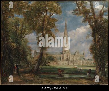 Salisbury Cathedral from the Bishop's Grounds,ca. 1825.jpg - WPAF93 - Stock Photo