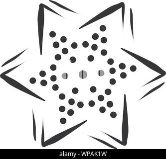 star icons isolated on white background. Design element for logo, label, emblem, sign, brand mark. Vector illustration - Stock Photo