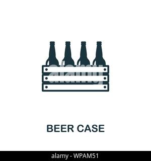 Beer Case vector icon symbol. Creative sign from oktoberfest icons collection. Filled flat Beer Case icon for computer and mobile - Stock Photo