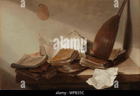 Still Life with Books, Jan Davidsz. de Heem, 1625 - 1630.jpg - WPB35C - Stock Photo