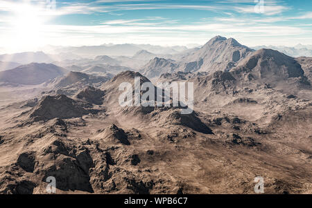 Scenic views of the mountain with a fantastically beautiful view. - Stock Photo